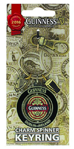 Guinness 2016 edition Spinner keyring with two charms (sg)